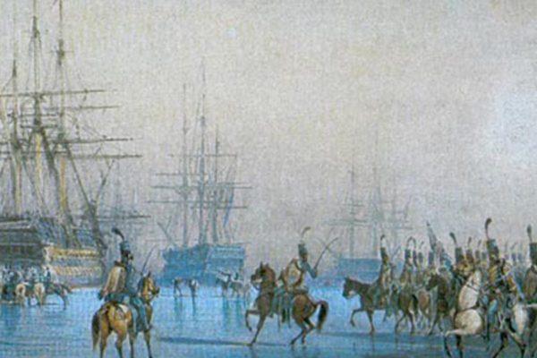 La capture de la flotte hollandaise… par des cavaliers!